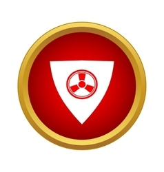Radiation shield icon in simple style vector