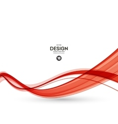 Abstract red wavy lines vector