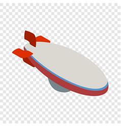 aerostat isometric icon vector image vector image