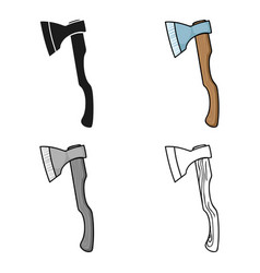 Axe icon in cartoon style isolated on white vector