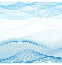 Background of blue-white ribbons intertwined vector