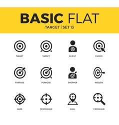 Basic set of Target icons vector image vector image