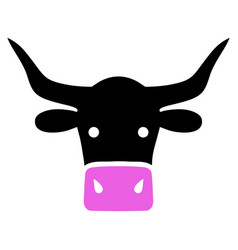 Beef head icon vector