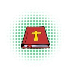 Bible book icon comics style vector