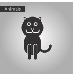 Black and white style icon cat vector