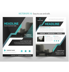 blue black abstract annual report brochure vector image