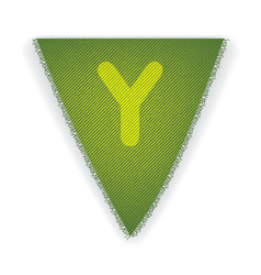 Bunting flag letter y vector