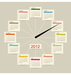 Calendar watch 2012 for your design vector image