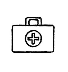 Contour medical aid kit emergency care vector