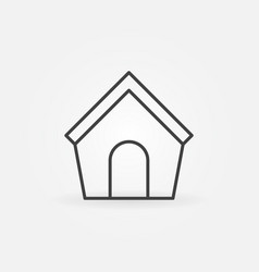 Doghouse line icon vector