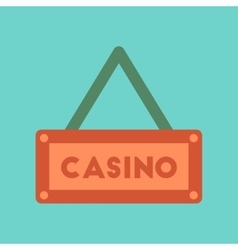 Flat icon on background poker casino sign vector