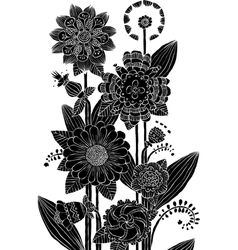 flowers pattern vector image vector image