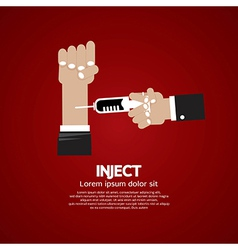 Inject vector image vector image