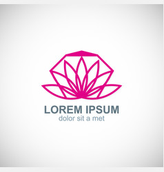lotus flower line abstract logo vector image