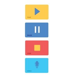 Music Player Control Interface 7 vector image vector image