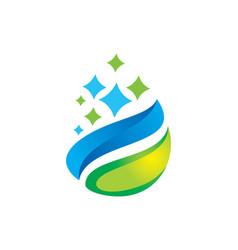 Organic droplet logo vector