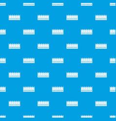 Regal crown pattern seamless blue vector