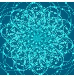 Sacred geometry symbols and elements background vector image