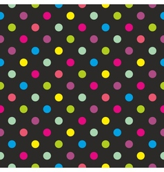 Seamless dark background with colorful dots vector