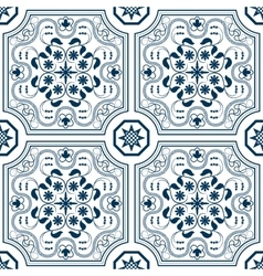 Seamless pattern with chinese ornament floral vector