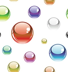 seamless pattern with glossy buttons vector image vector image