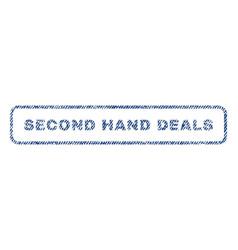 Second hand deals textile stamp vector