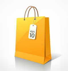 Shopping yellow bag vector image