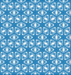 snowflake tile pattern winter holiday ornament vector image