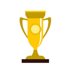 Winning cup icon flat style vector