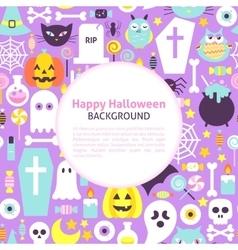 Happy halloween trendy background vector