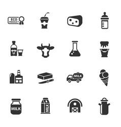 milk icon set vector image