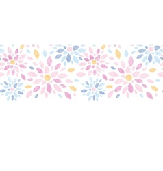 Abstract textile colorful flowers horizontal vector