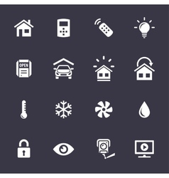 Home automation control systems icons vector