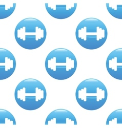 Barbell sign pattern vector