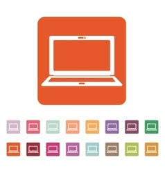 The laptop icon notebook symbol vector