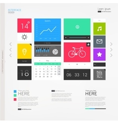 Interface template with modern icons vector