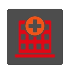 Hospital rounded square button vector