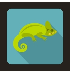 Chameleon icon flat style vector