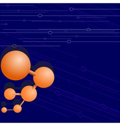 background with a molecule vector image vector image