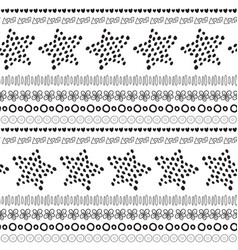Black and white ethnic seamless pattern vector