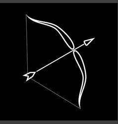 Bow and arrow it is icon vector