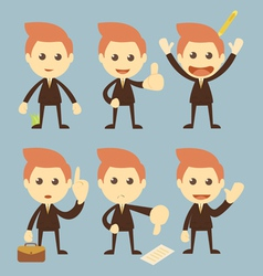 Businessman set cartoon vector image vector image