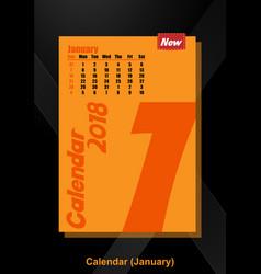 Calendar ui january image vector