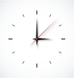 Clock face on white background vector image vector image