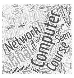 Computer networking training word cloud concept vector
