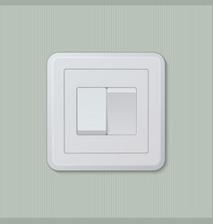 Double light switch 03 vector image