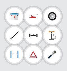 Flat icon workshop set of lifting pipeline vector