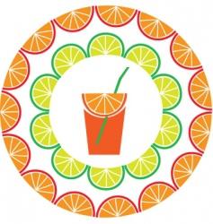 fruit juice vector image vector image