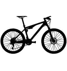 Full suspension mountain bike vector image