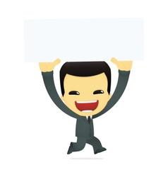 funny cartoon asian businessman vector image vector image
